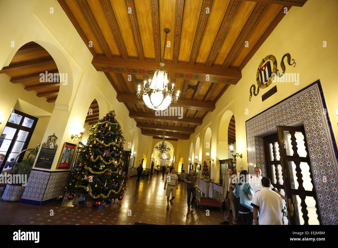 Havana cuba 19th dec 2014 the lobby of the hotel nacional de