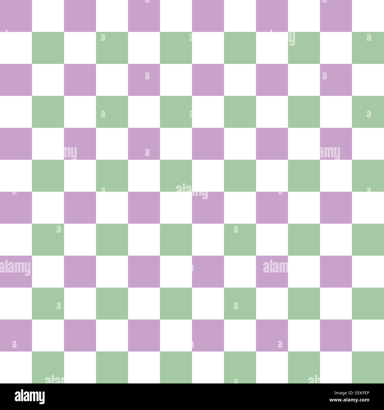 Seamless Checkered Pattern With Complementary Colors Lilac Light Green And White