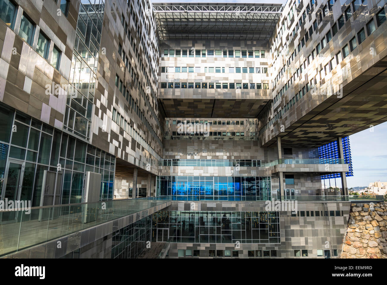 New hotel de ville city hall architect jean nouvel montpellier stock photo - Hotel de ville montpellier jean nouvel ...