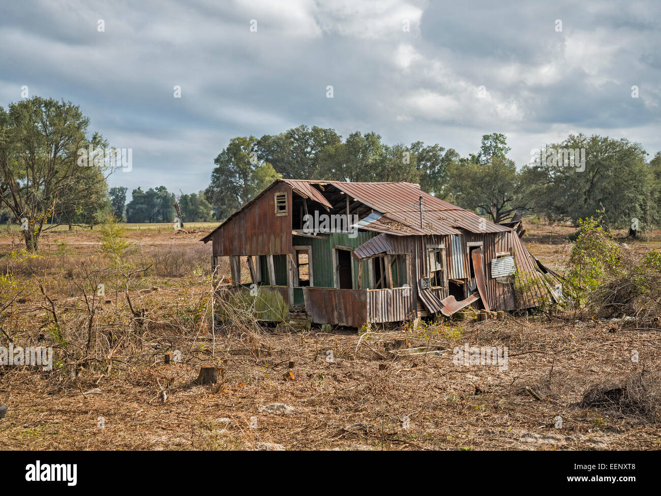 Cleared Land Reveals An Old Abandoned House In North Central Florida