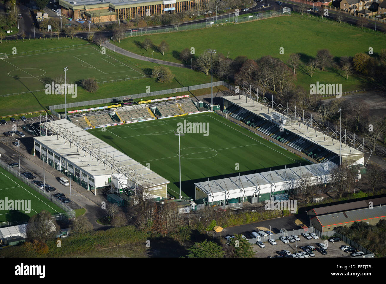 An Aerial View Of Huish Park The Home Yeovil Town FC Also Known As Glovers