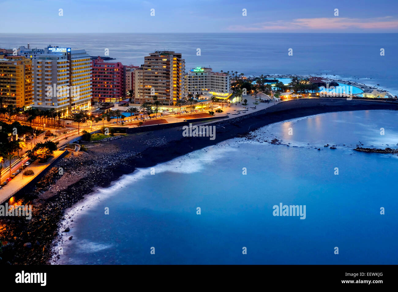 Playa martianez puerto de la cruz tenerife canary islands spain stock photo royalty free - Playa puerto de la cruz tenerife ...