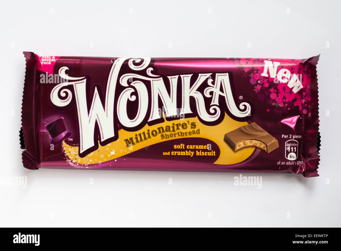 New Wonka Millionaire's shortbread flavoured chocolate bar ...