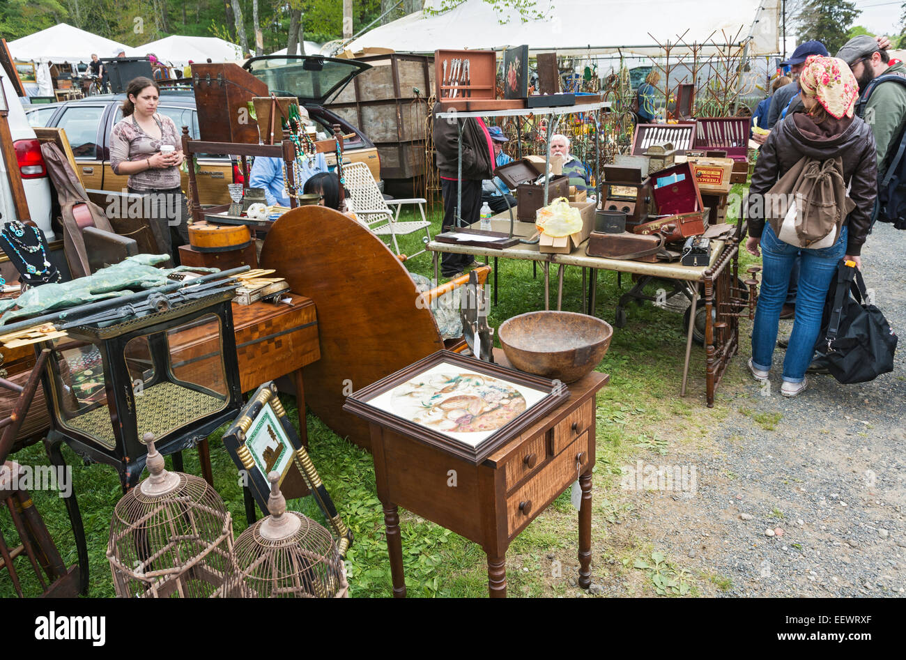 massachusetts brimfield antique flea market stock photo