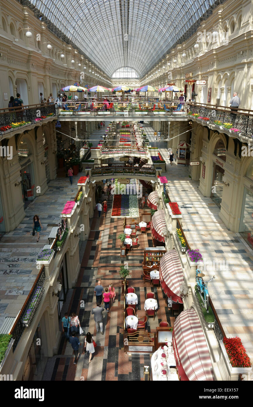 The Interior Of GUM Department Store, Red Square, Moscow