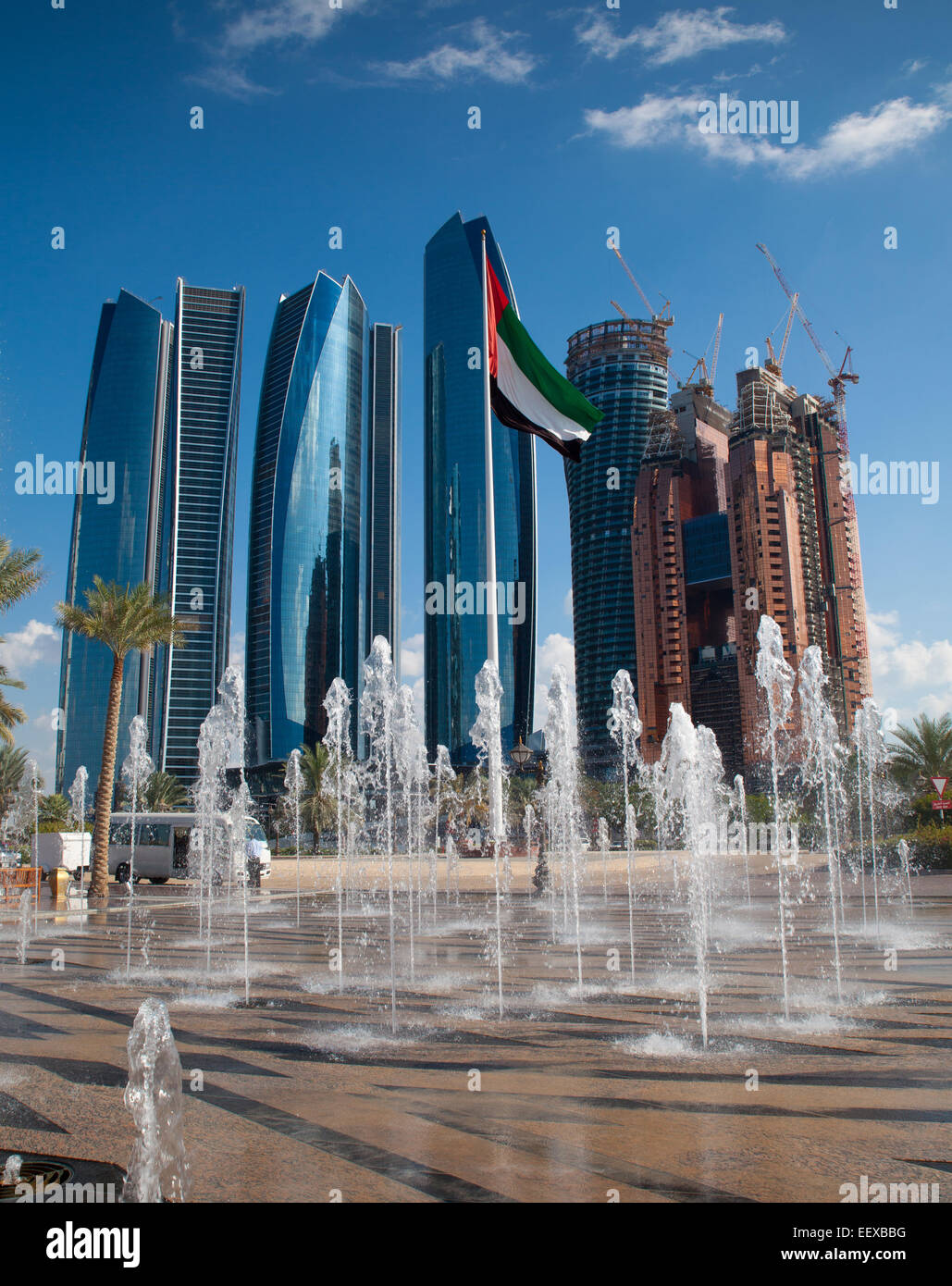 Skyscrapers of modern Abu Dhabi, capital of United Arab Emirates Stock Photo, Royalty Free Image ...