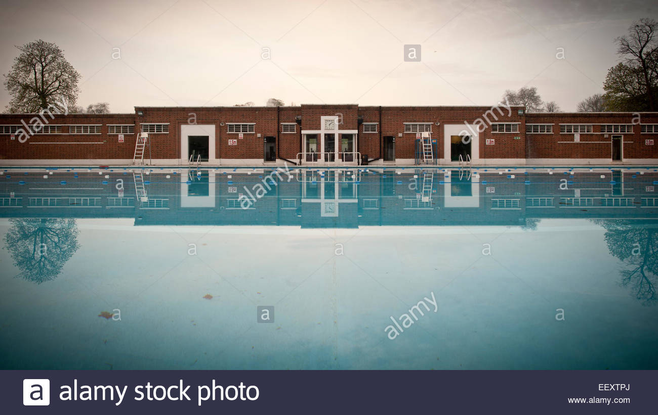 Brockwell Park Lido Near Brixton South London Uk 30 March 2014 Stock Photo Royalty Free