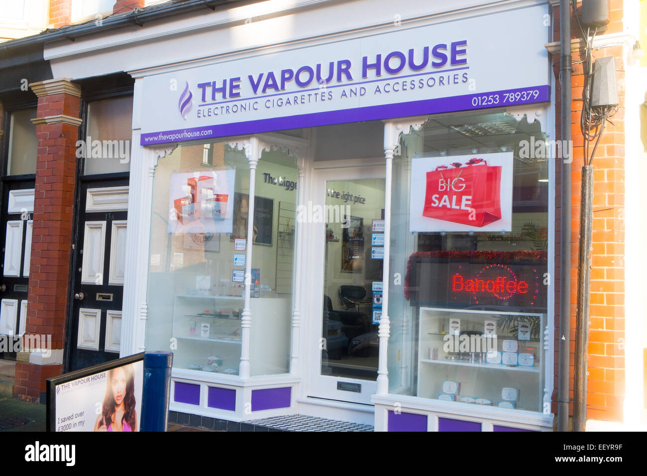 Electronic cigarette house