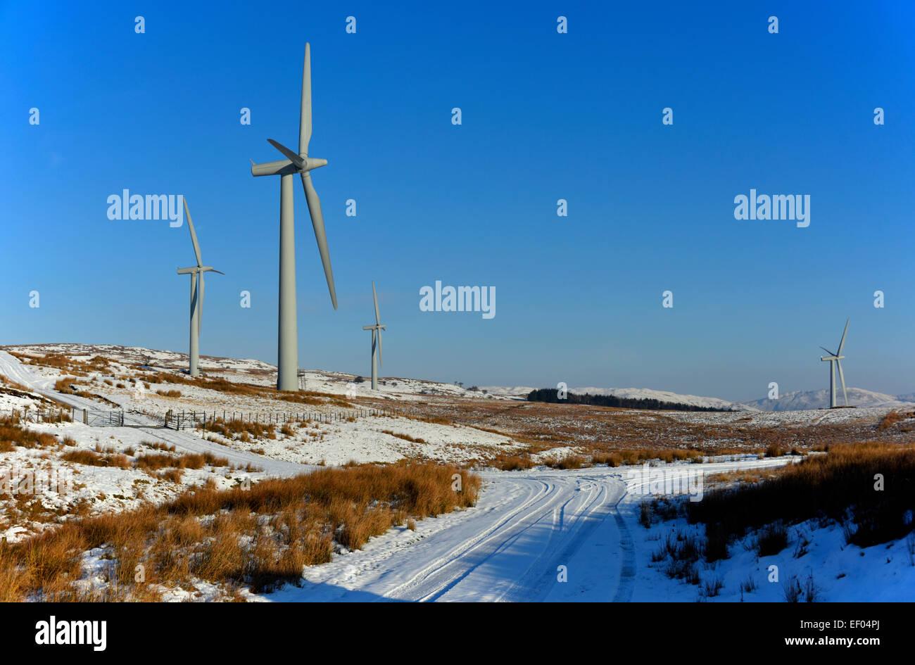 Brigg United Kingdom  city photo : Lambrigg Wind Farm In Winter. Lambrigg, Cumbria, England, United Stock ...