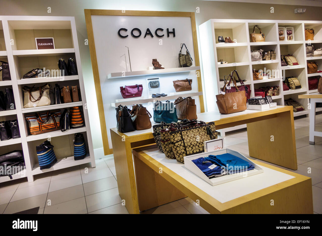 coach sale outlet ae5m  Stock Photo