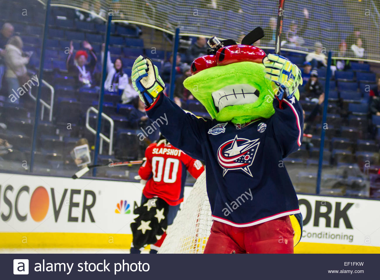 Columbus Blue Jackets Mascot &39&39stinger&39&39 Celebrates His Goal In