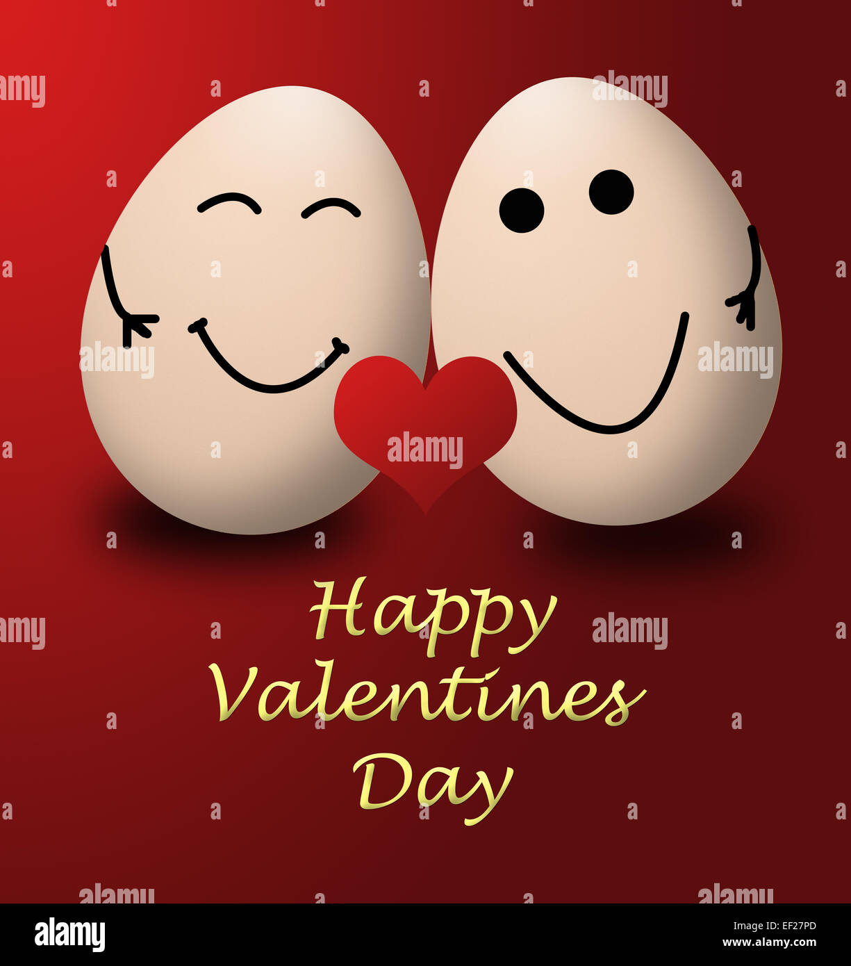 Happy Valentines Day My Egg Love Red Heart