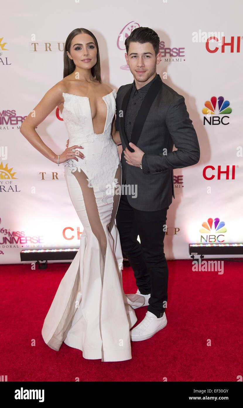 Nick Jonas Olivia Culpo Miss Universe