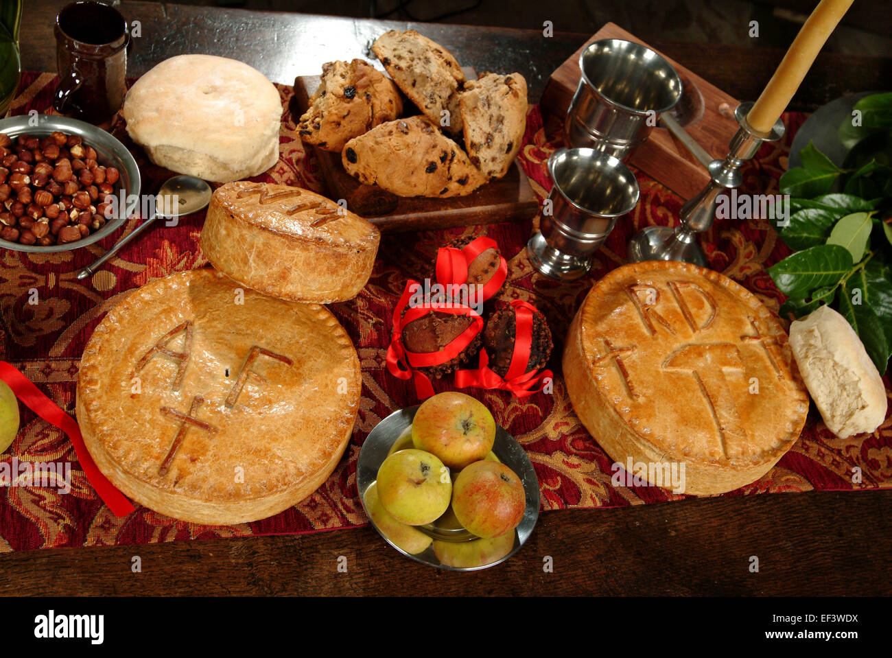 16th and 17th century foods of the tudor period with marchpane stock photo royalty free image