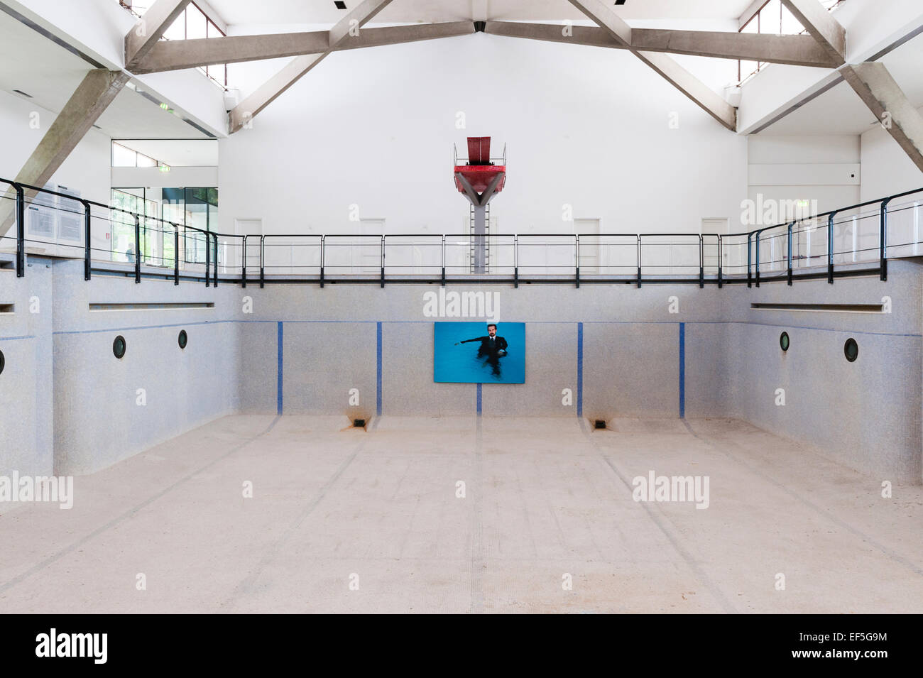 Venice Italy An Empty Swimming Pool Used As A Venue For