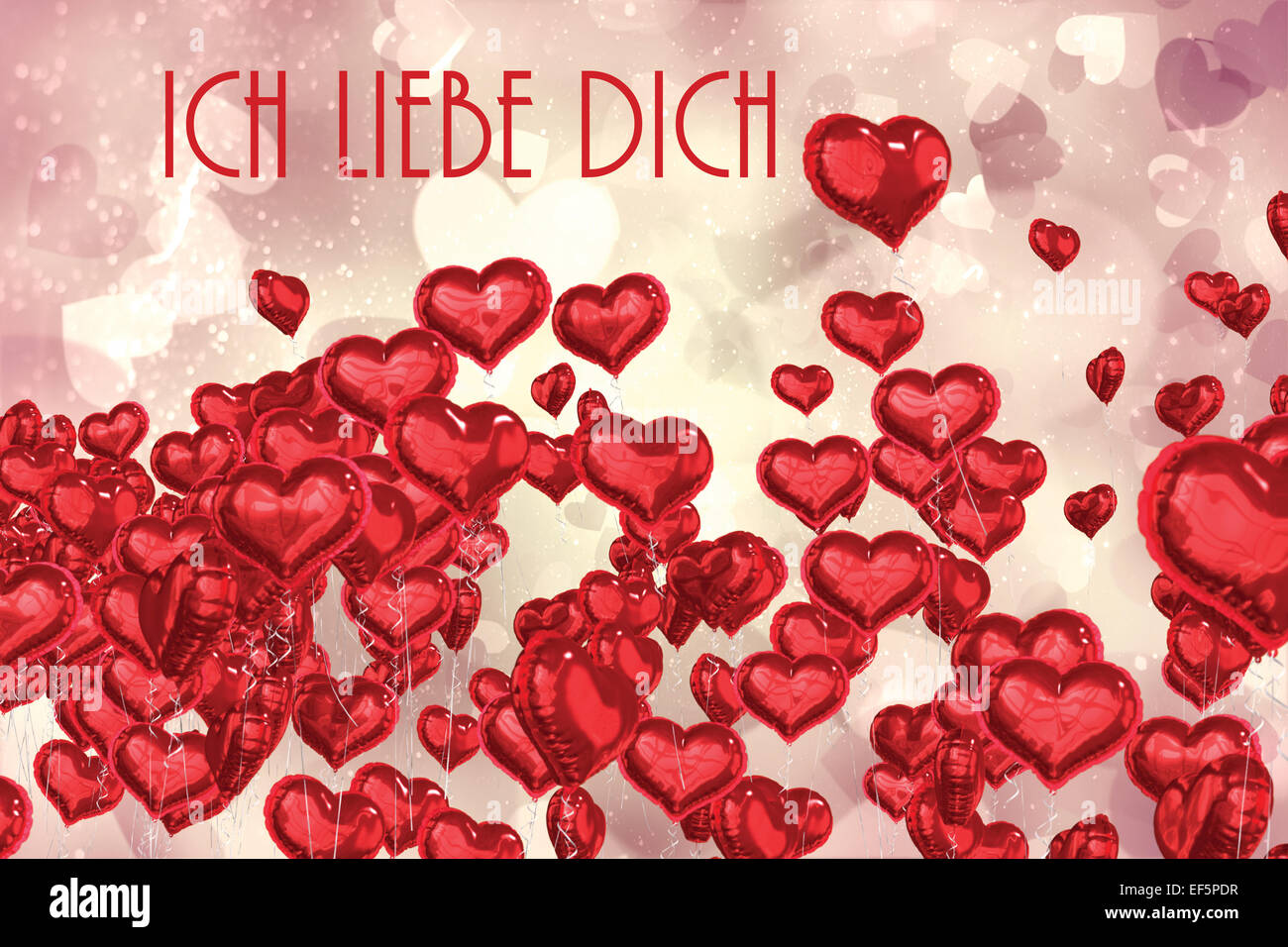 composite image of ich liebe dich stock photo royalty