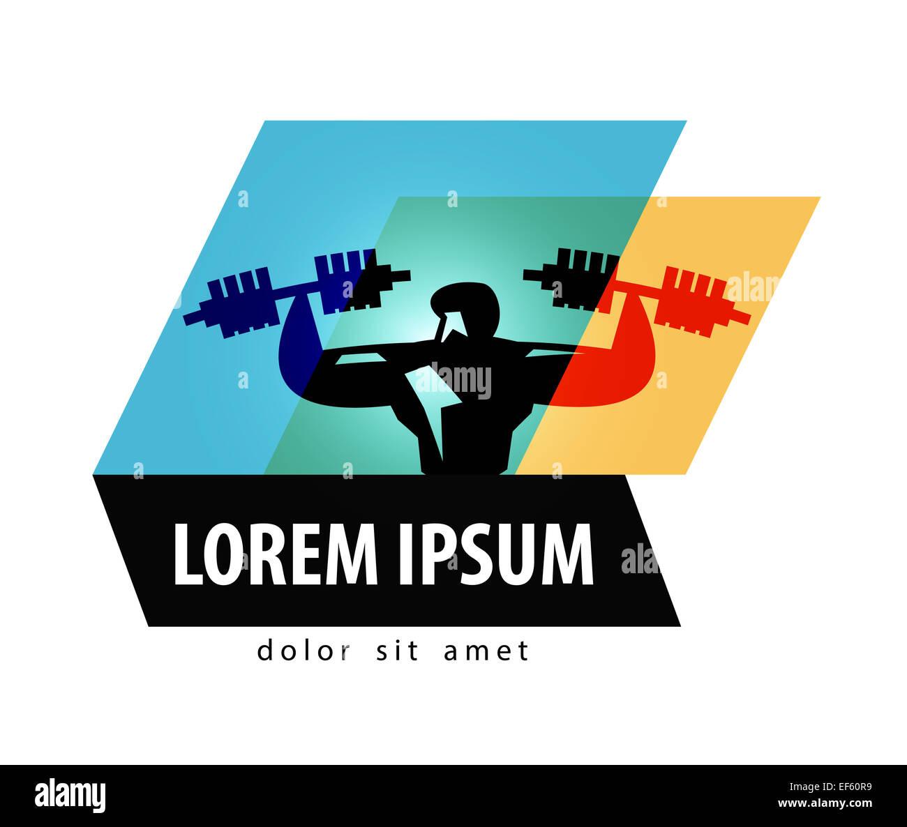Gym Vector Logo Design Template Fitness Or Bodybuilding Icon