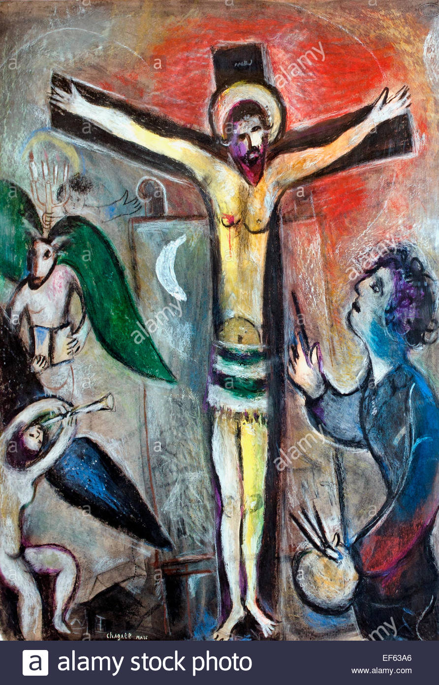 Le christ en le peintre christ and the painter 1951 for Chagall peintre