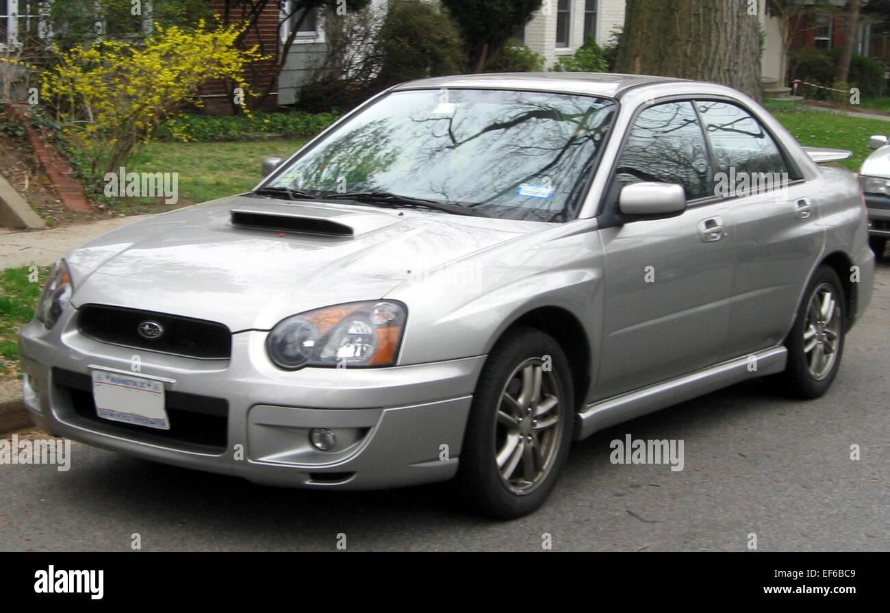 2004 2005 Subaru Impreza Wrx Sedan 03 16 2012 Stock Photo