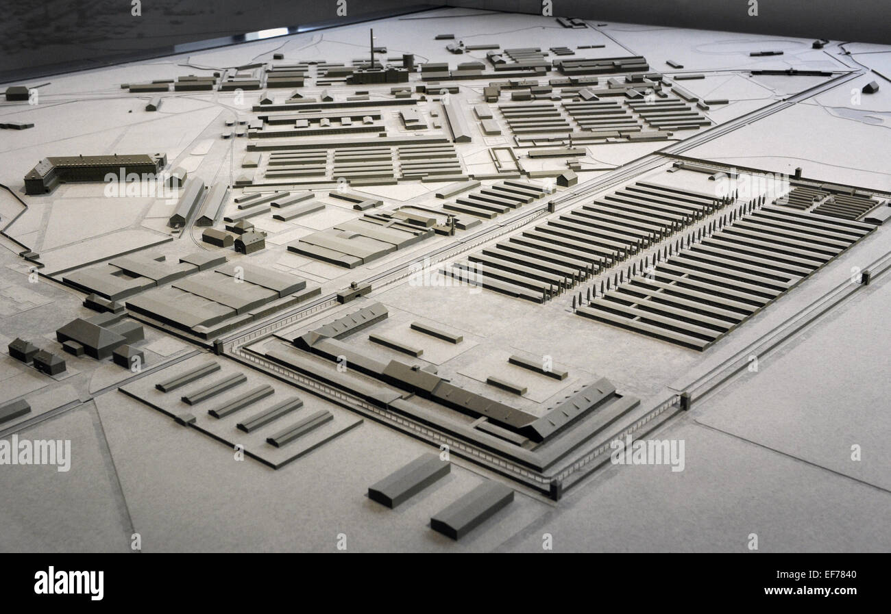 scale model dachau concentration camp first nazi concentration stock photo royalty free image. Black Bedroom Furniture Sets. Home Design Ideas