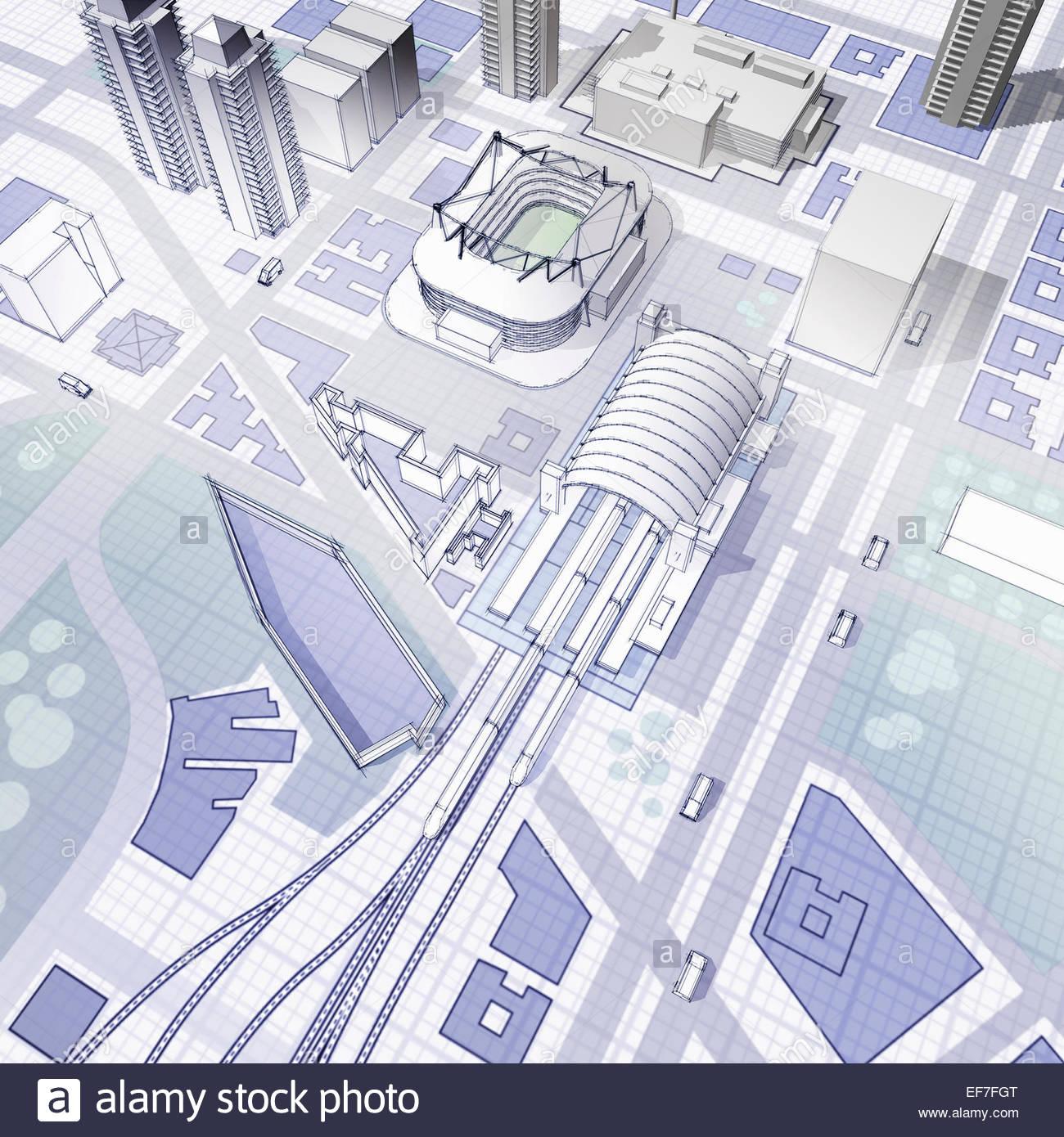 Blueprint of urban planning stock photo 78227208 alamy blueprint of urban planning malvernweather Gallery