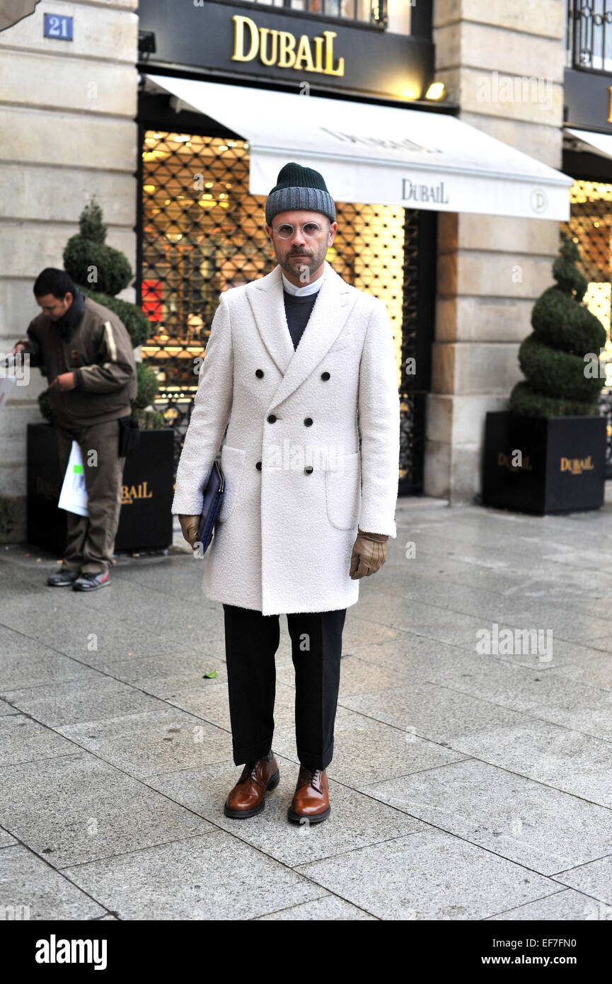 Fashion Writer Angelo Flaccavento Arriving At The Schiaparelli ...