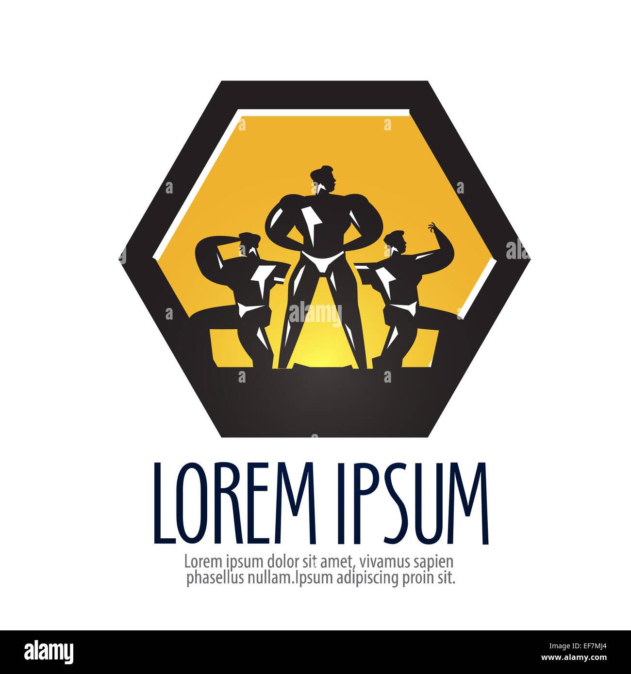 Gym Vector Logo Design Template Bodybuilder Or Sports Icon