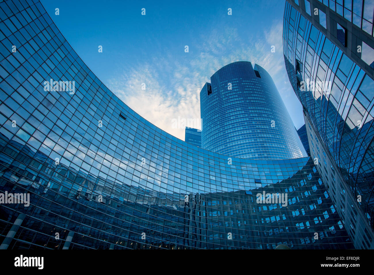 modern architecture and buildings of la defense district paris stock photo royalty free image. Black Bedroom Furniture Sets. Home Design Ideas