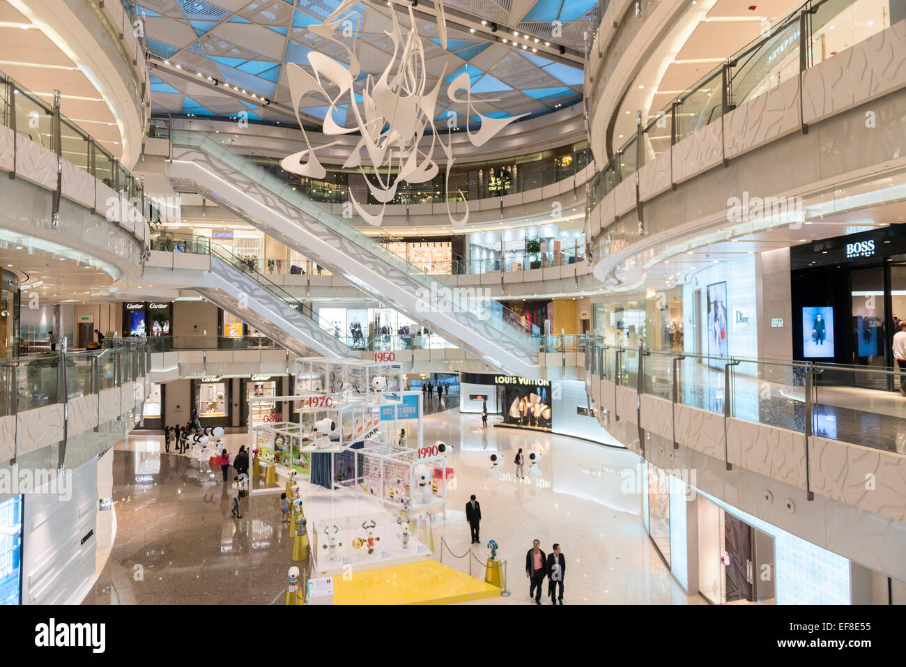 IFC shopping mall modern interior in Shanghai, China 2014 Stock ...