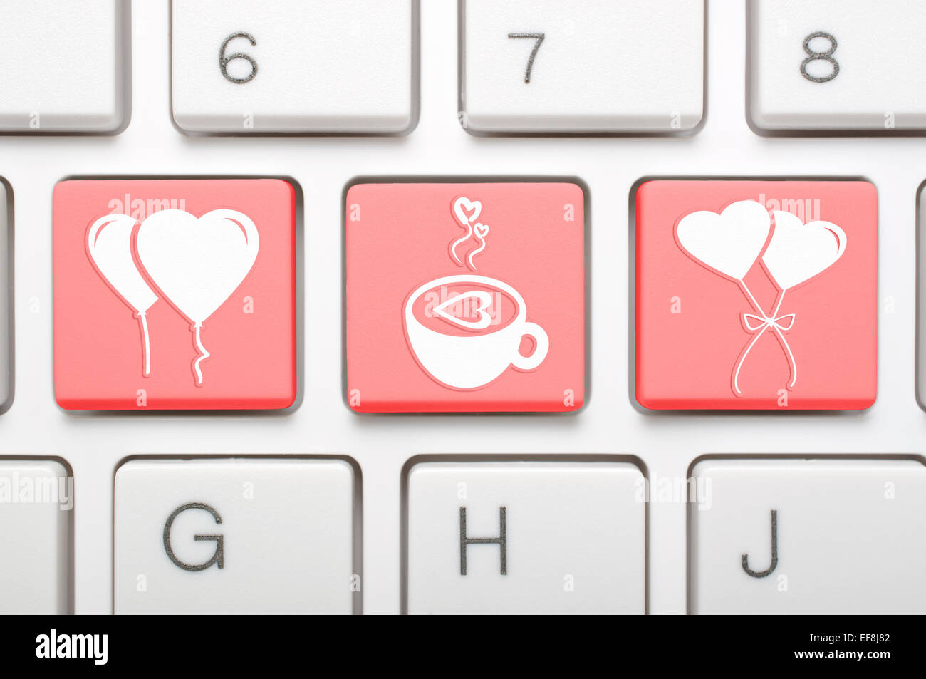 Abstract valentine symbol on keyboard stock photo 78251266 alamy abstract valentine symbol on keyboard buycottarizona Choice Image