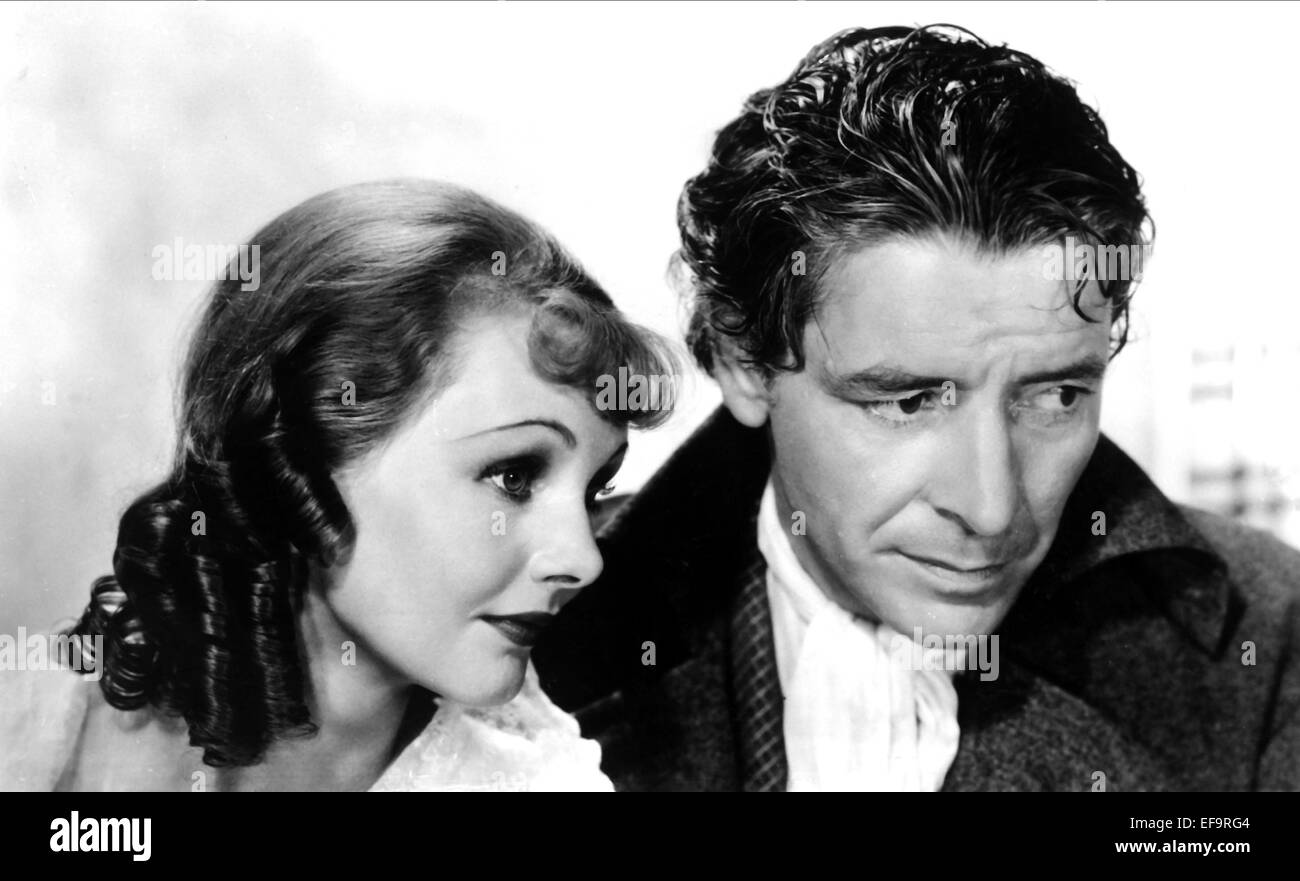 Allan as lucie manette colman had long wanted to play sydney car - Elizabeth Allan Ronald Colman A Tale Of Two Cities 1935 Stock Image