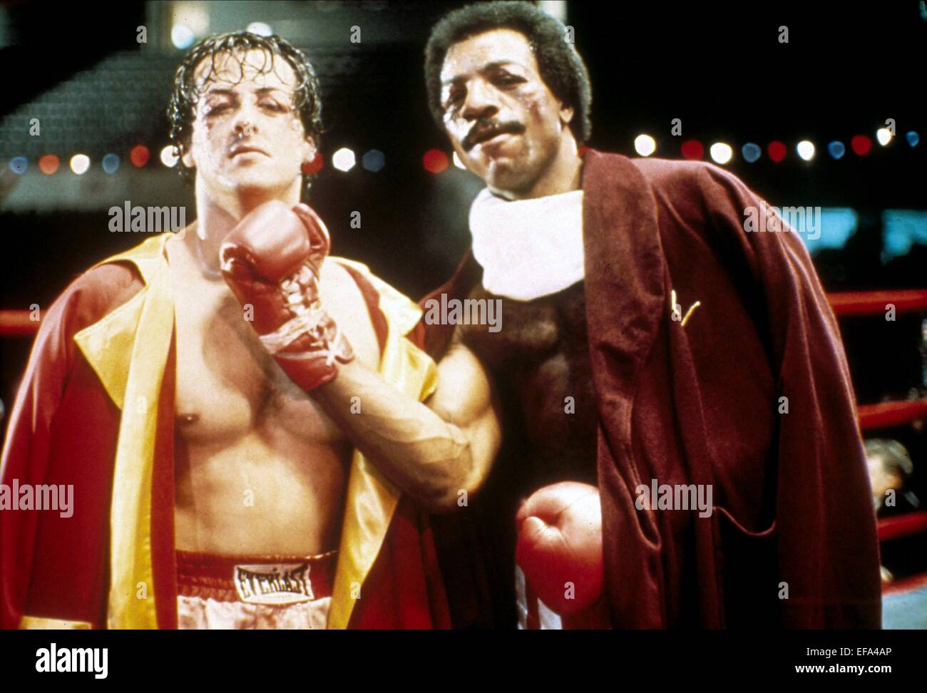 CARL WEATHERS & SYLVESTER STALLONE ROCKY (1976 Stock Photo ...