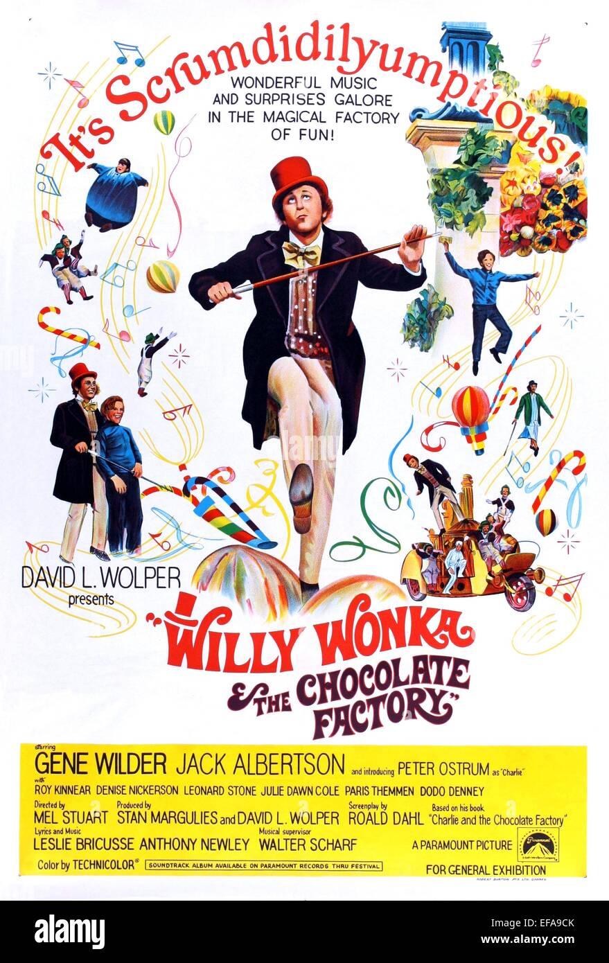 GENE WILDER POSTER WILLY WONKA & THE CHOCOLATE FACTORY (1971 Stock ...