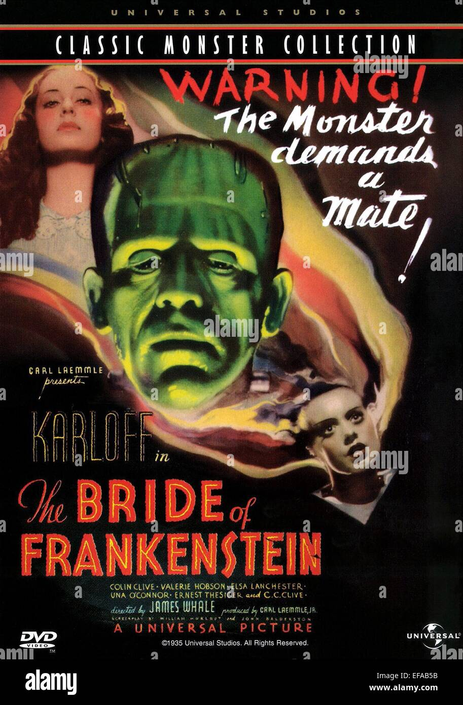 movie poster the bride of frankenstein 1935 stock photo