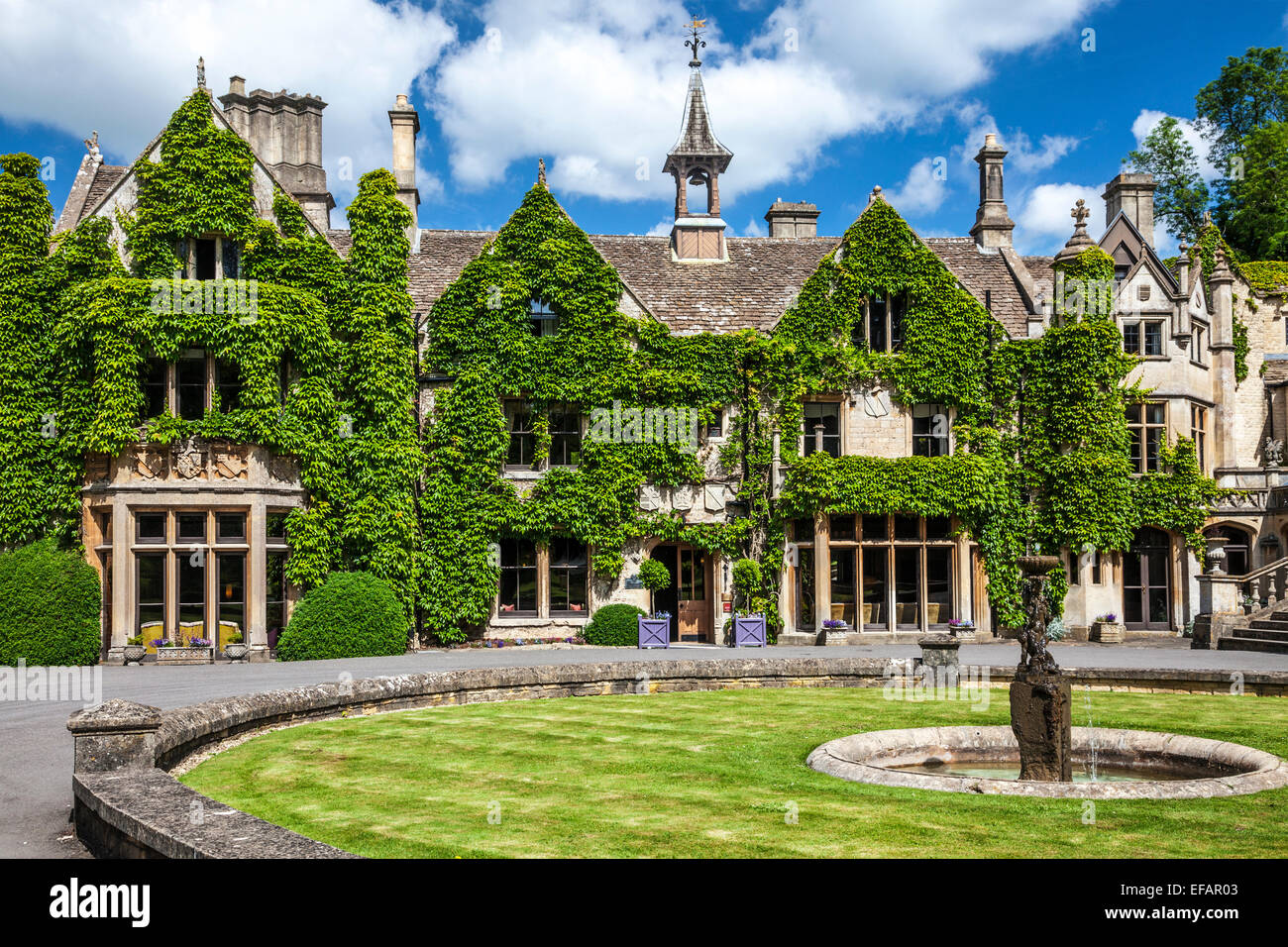 The Manor House Hotel In The Cotswold Village Of Castle
