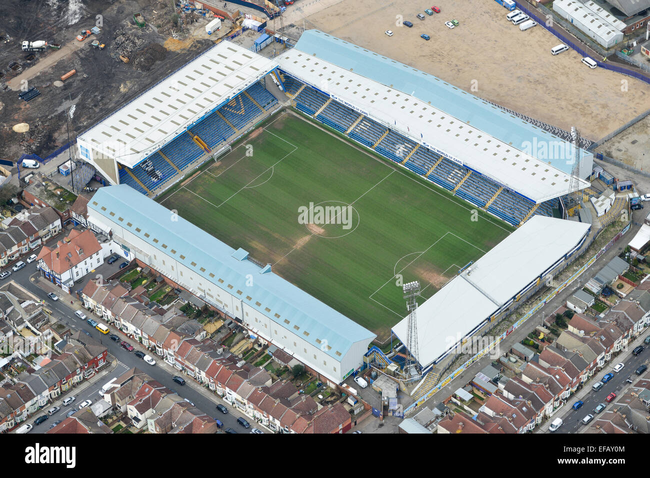 An Aerial View Of Fratton Park Home Portsmouth FC