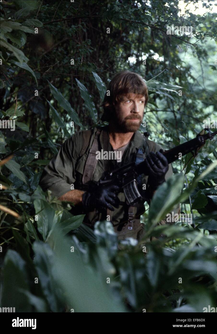 chuck norris missing in action 1984 stock photo royalty