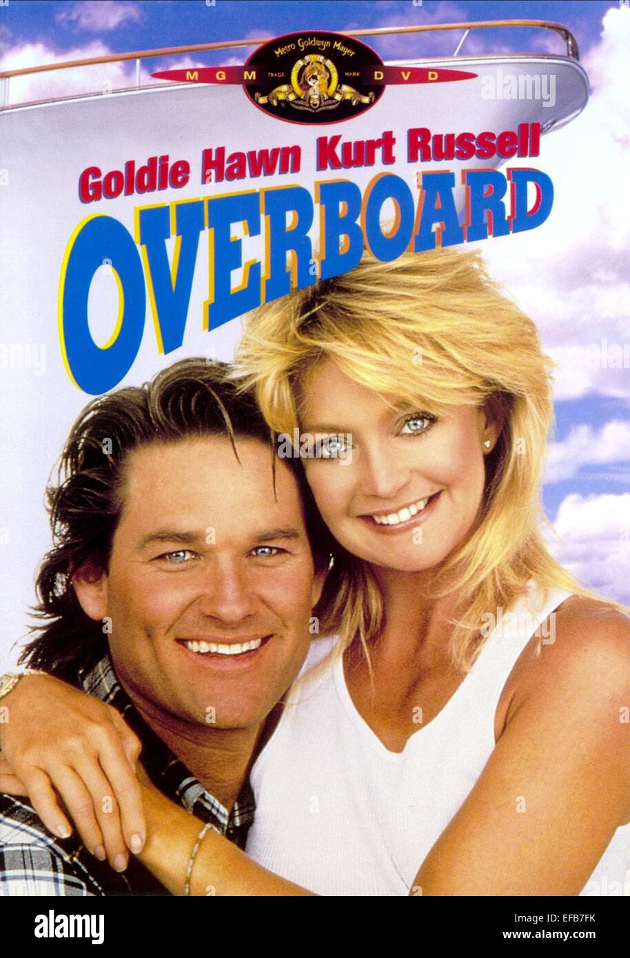 kurt russell amp goldie hawn poster overboard 1987 stock