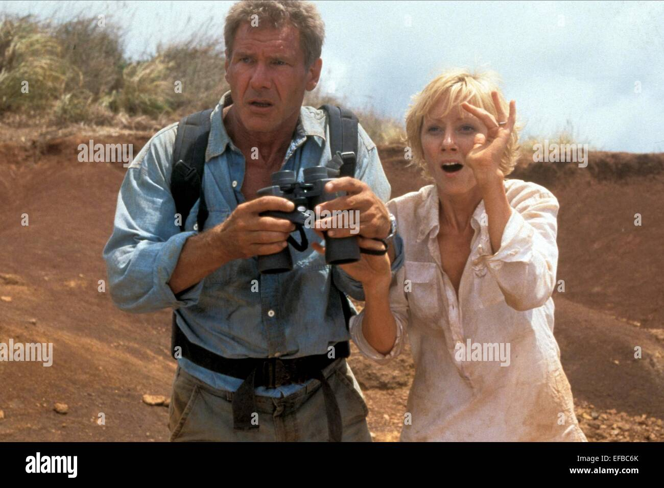 Harrison ford anne heche six days seven nights 1998 stock photo