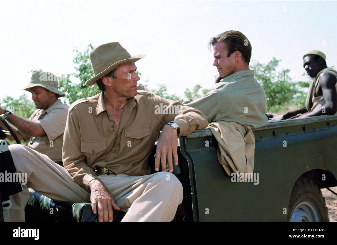 white b j stock photos white b j stock images alamy clint eastwood jeff fahey boy mathias chuma white hunter black heart 1990
