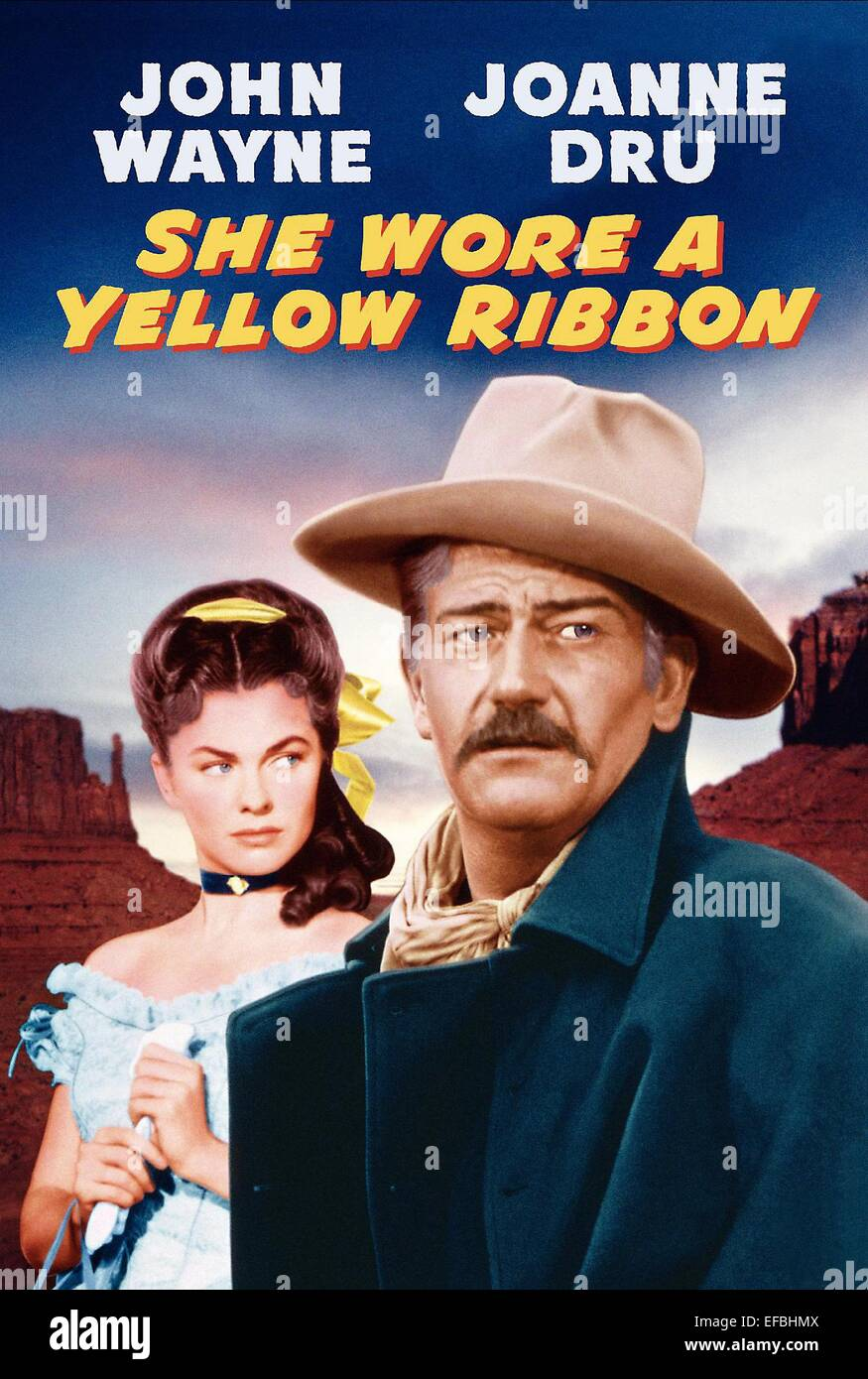 Image result for SHE WORE A YELLOW RIBBON 1949 movie