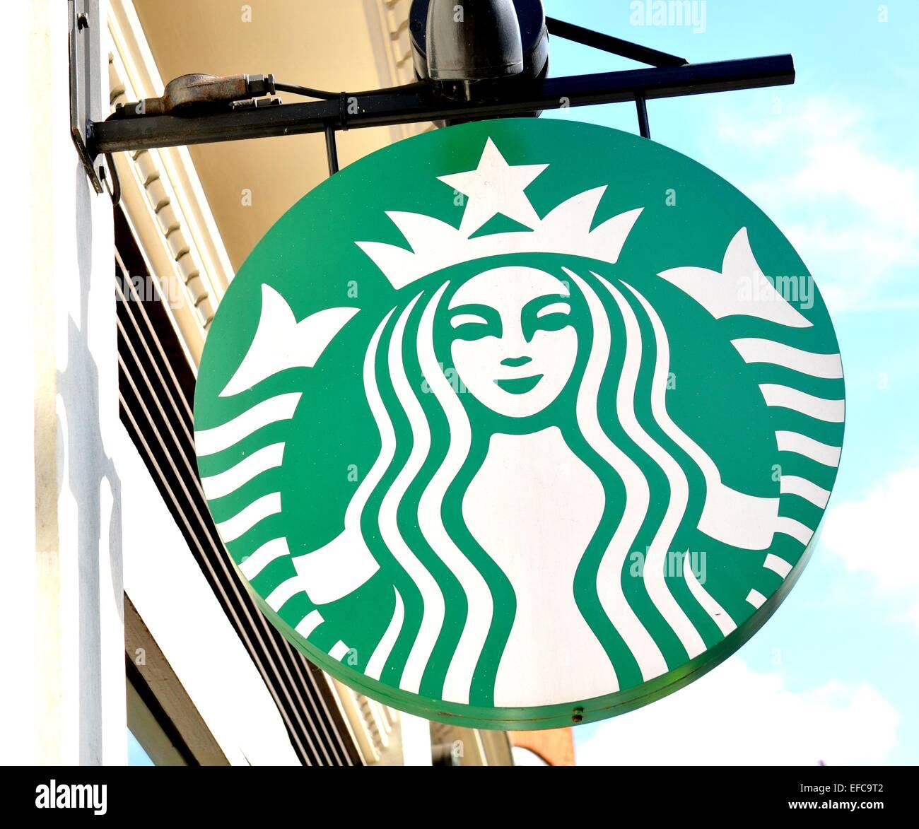 Starbucks branding stock photos starbucks branding stock images london uk july 9 2014 close up of starbucks logo biocorpaavc Image collections