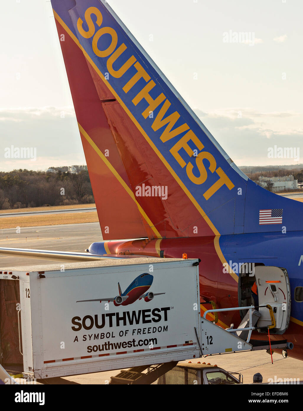 Southwest airlines boeing 737 aircraft line up at the gate in stock southwest airlines boeing 737 aircraft line up at the gate in memphis tn buycottarizona