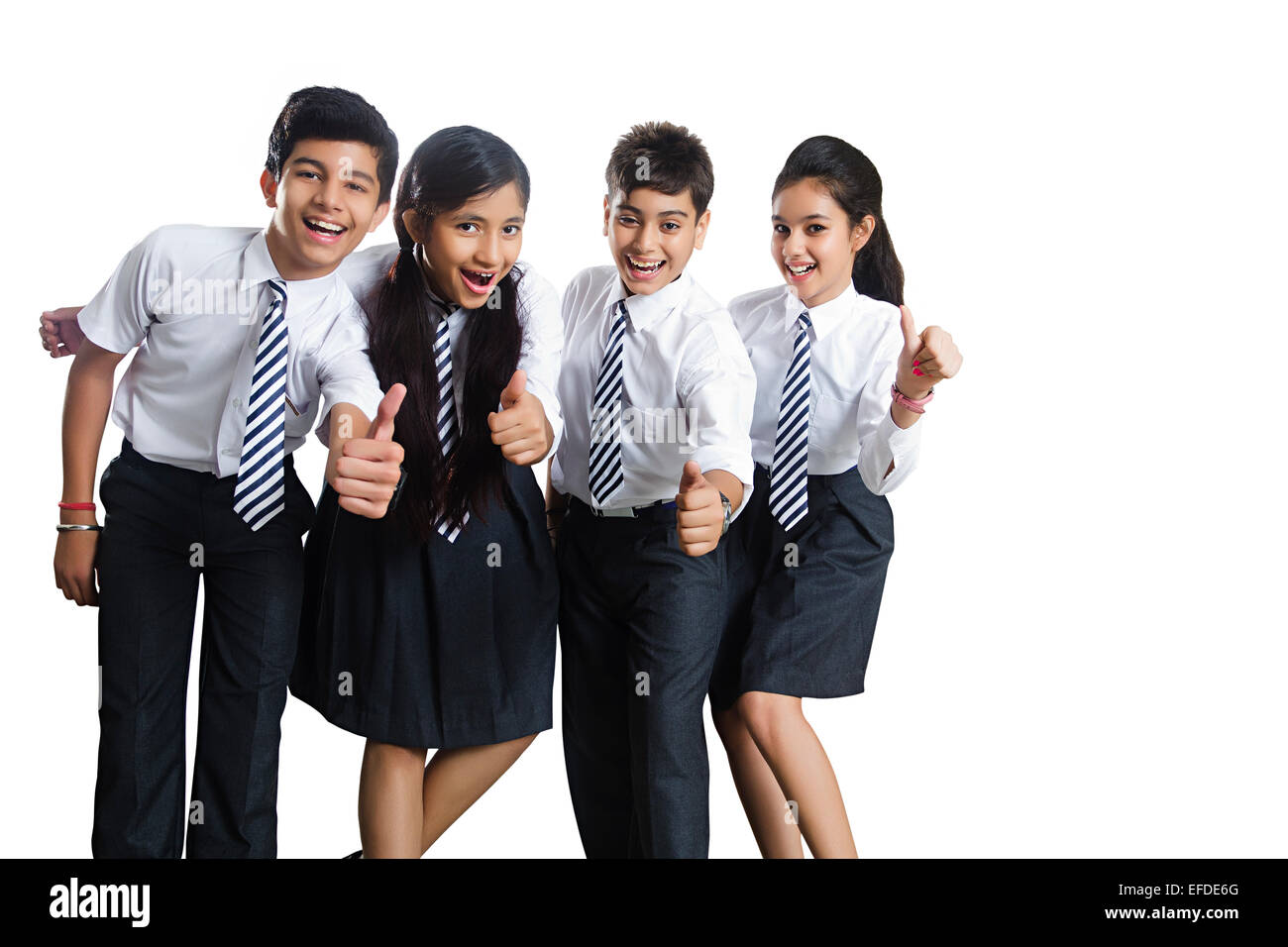indian school friends students standing fun Stock Photo ...