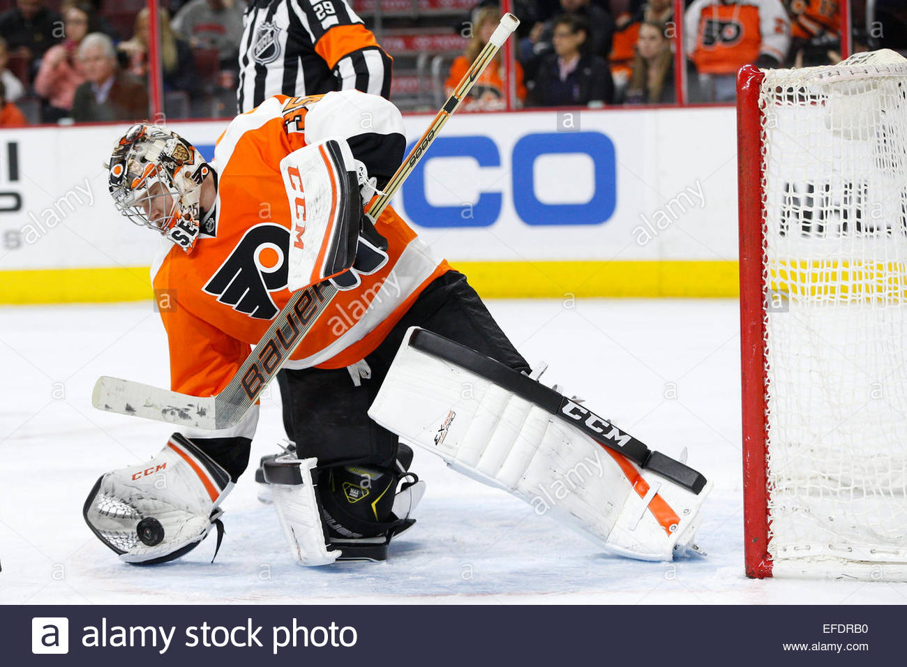 January 29 2015 philadelphia flyers goalie steve mason 35 cradles the puck