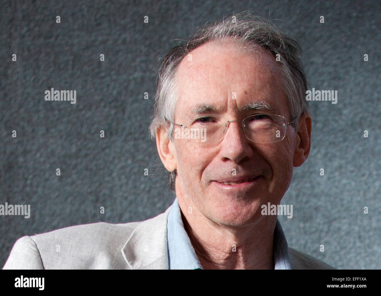 A Portrait Of Ian Mcewan At The Edinburgh International Book Festival 2012  In Charlotte Square Gardens Pic By Pako Mera
