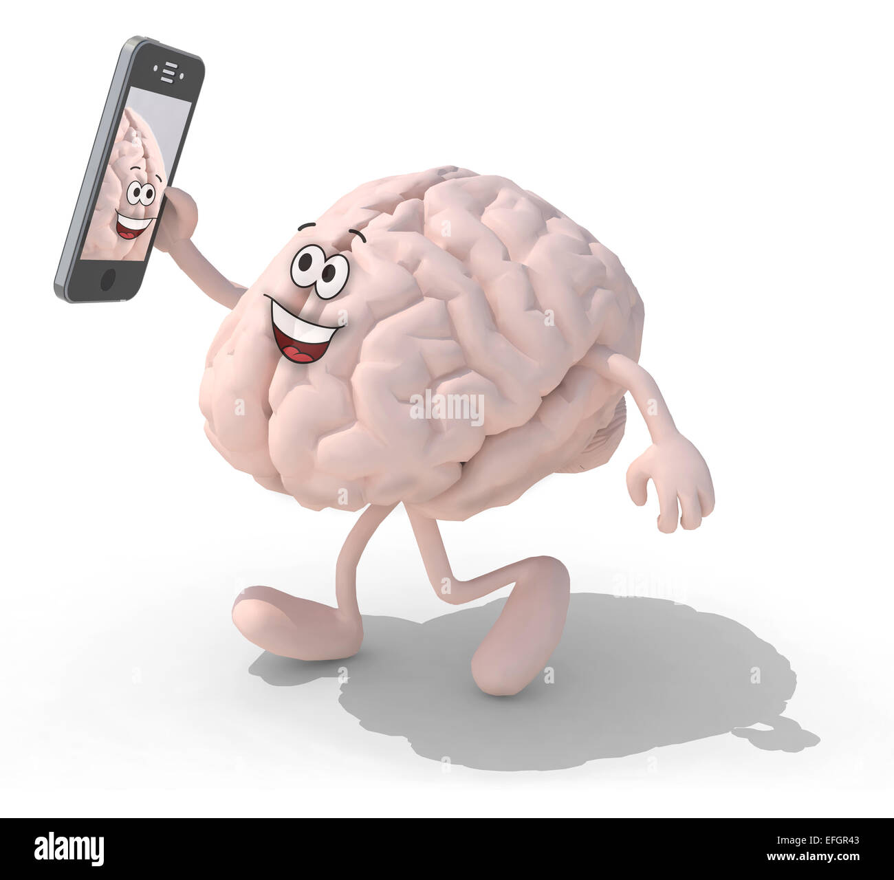 human brain cartoon with arms and legs take a self portrait with ... for Smart Cartoon Brain  181pct