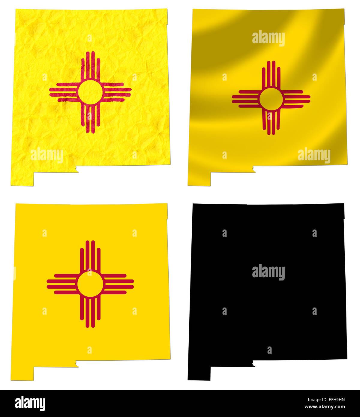 Us new mexico state flag over map stock photo royalty free image us new mexico state flag over map buycottarizona