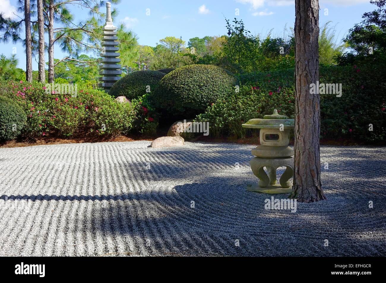 Hiraniwa flat garden at Morikami Japanese Gardens Delray Beach