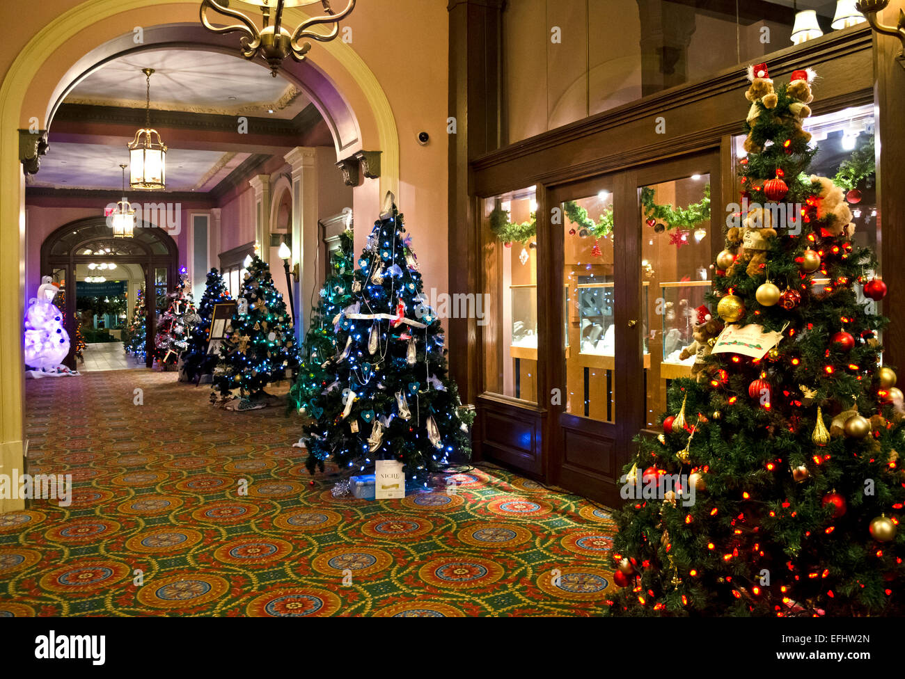 Fairmont Empress Hotel in Victoria BC Canada at Christmas with